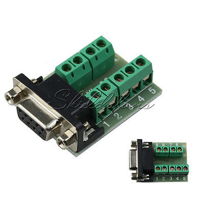 DB9 connector female adapter signals Terminal module RS232 Serial to Terminal