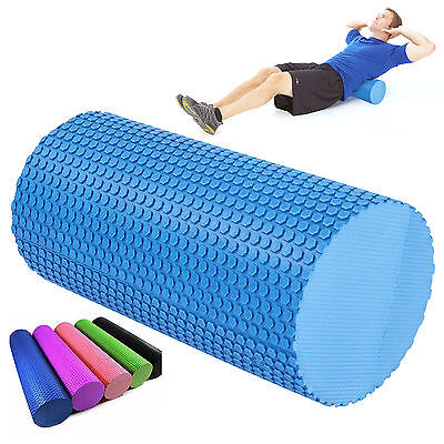 TEXTURED YOGA EXERCISE FOAM ROLLER-TRIGGER-GYM-PILATES-PHYSIO-MASSAGE 15x31cm