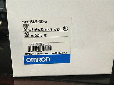 Omron Timer H3AM-NS-A 100-240VAC New In Box