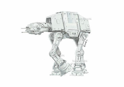 ATAT Sketch direct from the artist. A4 STAR WARS art / print