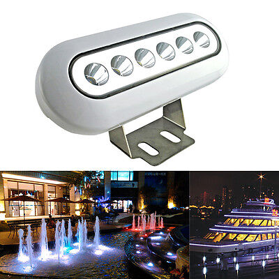 12W 12V IP68 Cold White Underwater Yacht Boat Marine LED Swimming Pool Lights