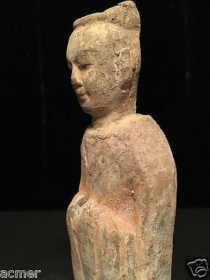 **RARE** Ancient 600 A.D. Chinese Tang Dynasty Terracotta Court Servant Statue