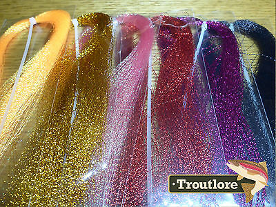 Mylar Crystal Flash Combo - 6 Hanks Red Variants - New Fly Tying Materials