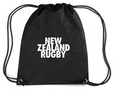 Zaino Zainetto Budget Gymsac  TRUG0149 ruggershirts new zealand rugby tshirt log