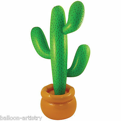 170cm Wild West Western Cowboy Party Inflatable Green CACTUS Prop Decoration