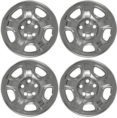 """New Set of 4 16"""" Chrome Wheel Skins for 2002-2007 Jeep Liberty 16"""" Steel Wheels"""