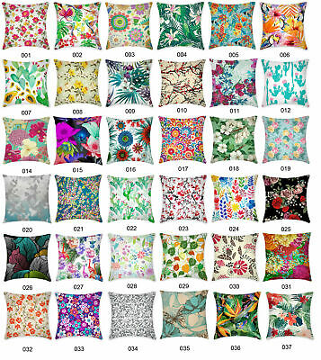 Floral Pattern Flower Leave Botanical Cushion Cover Home Decor Throw Pillow Case