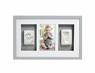 Pearhead Babyprints Deluxe Wall Frame, Grey