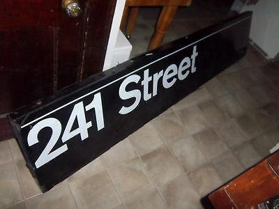 VINTAGE AUTHENTIC NYC SUBWAY STATION SIGN 241 ST MANHATTAN COLLECTIBLE ART 98x19