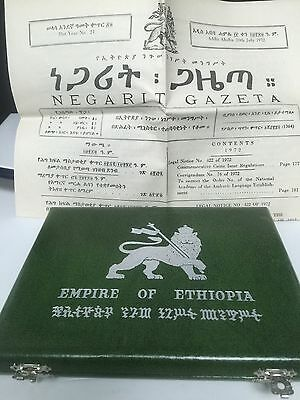 1972 Empire of Ethopia 5-Coin Proof Sterling Silver Set Haile Selassie w/Box