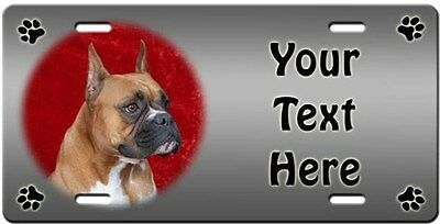 Boxer Personalized License Plate