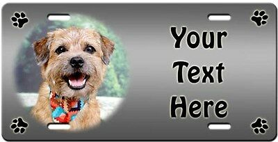 Border Terrier Personalized License Plate