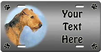 Airedale Terrier Personalized License Plate