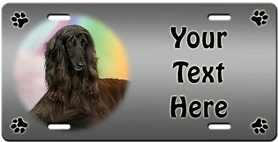 Afghan Hound Personalized License Plate