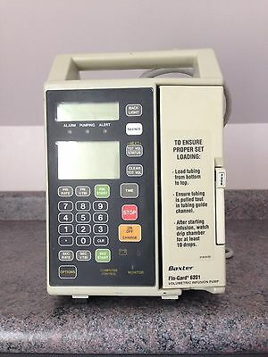 Baxter Flogard 6201 Infusion / IV Pump with Warranty