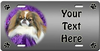 Japanese Chin Personalized License Plate