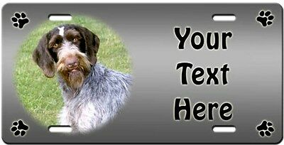 German Wirehaired Pointer Personalized License Plate
