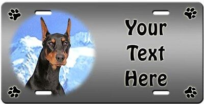 Doberman Pinscher Personalized License Plate