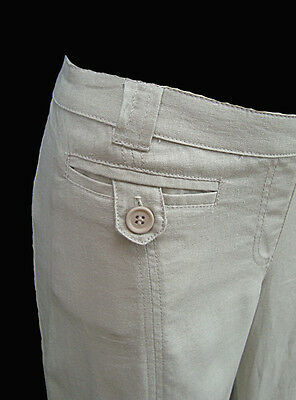 New Ex Mothercare  Chainstore Maternity Linen Blend Trousers 8-20
