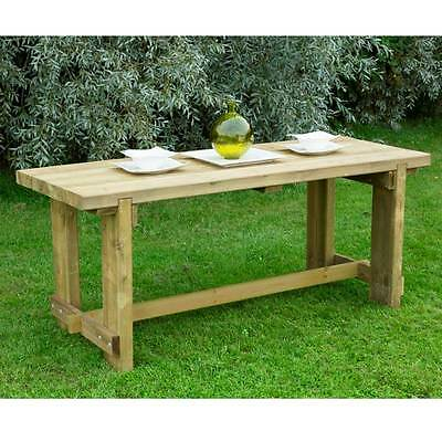 Sturdy  Contemporary Wooden 1.8m Refectory Garden  Table Outdoor Dining