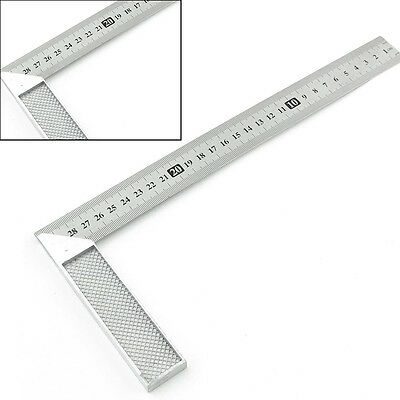 30cm Stainless Steel Right Measuring Rule Tool 0-12 inches Angle Square Ruler