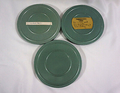 (3) Vtg  8mm home movie films in metal cans