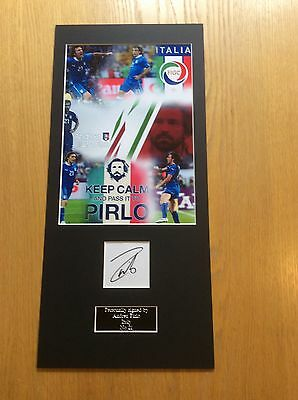 Andrea Pirlo Italy Hand Signed Mounted Photo