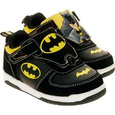 NEW DC Boys Toddler or Child Batman Reversible Picture Sneakers Size 7 8 or 12