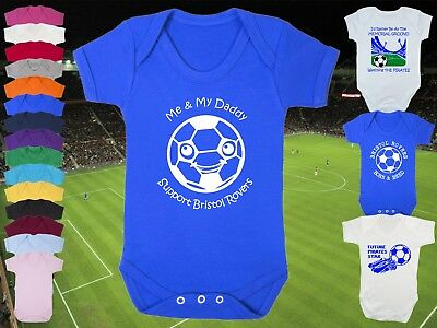 BRISTOL ROVERS Football Personalised Baby Bodysuit Vest