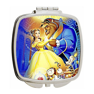 Disney Beauty and the Beast Square Compact Mirror