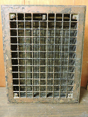 Vintage 1920S Iron Heating Grate Square Design 14 X 10.75 B