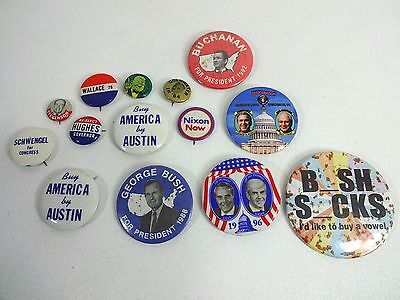 Vintage Political Presidential Canidate Office Pin ++ Button / Pin Lot