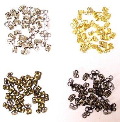 20pcs 10 pairs 6 colours Earring Stud Backs Butterfly Stoppers Jewelry Findings