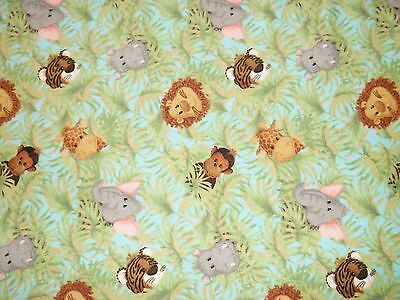New Hand Made Jungle Animal Toss Flannel Fitted Crib/Toddler Sheet