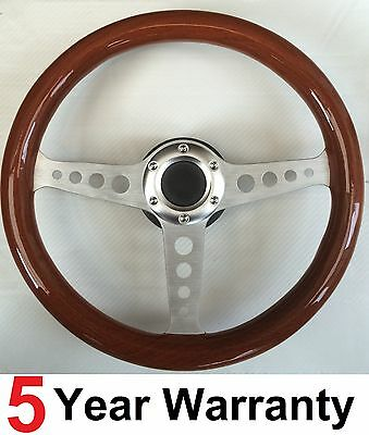 Classic Vintage Wood Rim Steering Wheel Fit Omp Sparco Mountney Momo Boss Kit