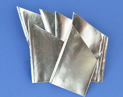 100 Pearlescent Silver Paper Hats for Christmas Crackers