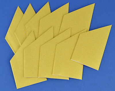 10 Pearlescent Gold Paper Hats for Christmas Crackers