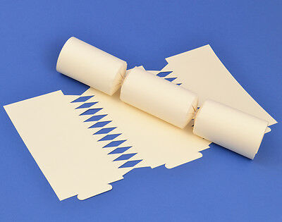 12 Ivory Make & Fill Your Own Cracker Boards   DIY Christmas Cracker Crafts
