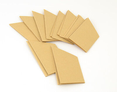 10 Brown Recycled Style Kraft Paper Hats for Parties & Crackers