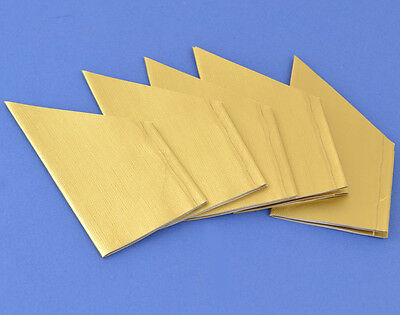 100 Gold Textured Foil Paper Hats for Parties & Crackers