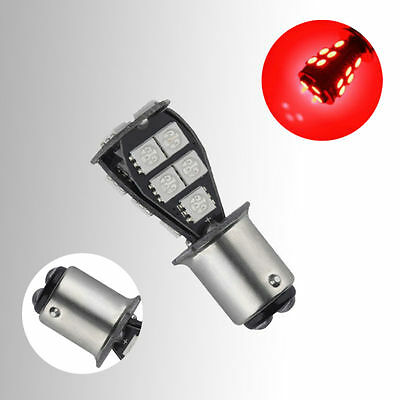 1157 BAY15D P21/5W 18SMD Red CANBUS Error Free Brake Tail Car LED Light Bulbs