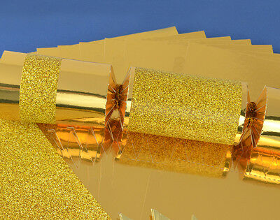 SALE - 8 Gold Glitter Make & Fill Your Own Party Crackers - Craft Kit