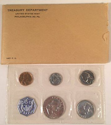1957 Silver Proof Set in Cello and Original Envelope