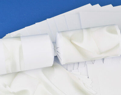 8 White Silk Make & Fill Your Own Party Crackers Kit