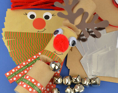 8 Kraft Jingle & Wobble Rudolph Christmas Cracker Making Kit