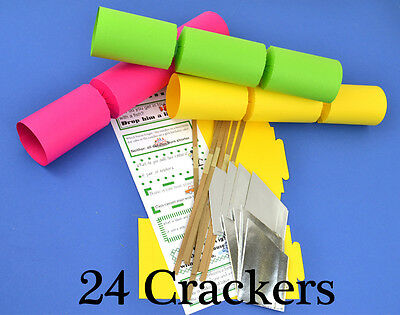 24 Funky Bright Make & Fill Your Own Cracker Making Craft Kit