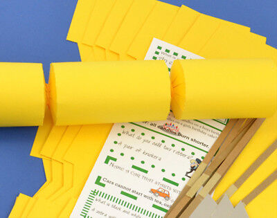 12 Yellow Make & Fill Your Own Cracker Kits | DIY Christmas Cracker Crafts