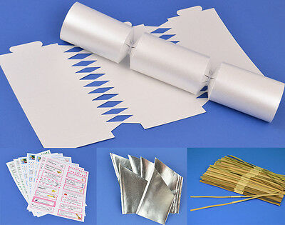 100 Pearlescent White Make & Fill Your Own Cracker Kit - Bulk Buy