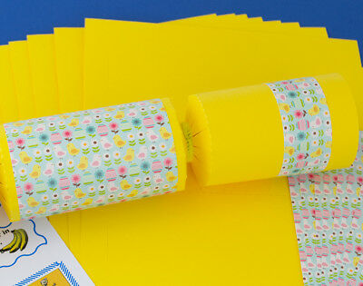 8 Yellow Easter Shabby Chic Make & Fill Your Own Party Crackers Kit