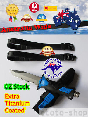 Spherefishing Snorkelling Stainless Scuba Diving Knife - Extra Titanium Coating